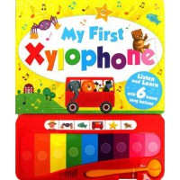 [HelloPandaBooks] My First Xylophone Sound Board Book with 6 song buttons
