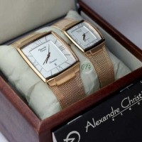 Jam Tangan Couple Alexandre Christie AC 8329 Rose Gold Original