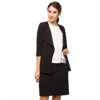 Contempo Women Cropped Cardigan Black A1116I04-J54