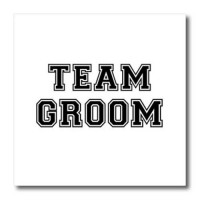 [macyskorea] 3dRose ht_151269_2 Team Groom Black Text on White Bachelor Party Stag Night G/1829970