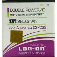 Log On Double Power Battery Baterai Andromax C3 / C3S