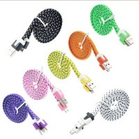Kabel Charger & Data Micro USB Tali Sepatu 3m untuk BB, Samsung, Android (Good Quality)