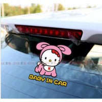 Stiker Mobil Hello Kitty Baby In Car