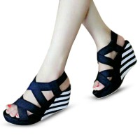 Wedges shoes fashionable Motif Belang |2 pilihan warna