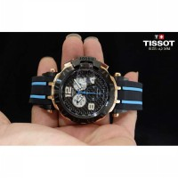 Tissot T-Race 2016 Rosegold Combi Blue Rubber to