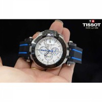 Tissot T-Race 2016 Silver Combi White Blue Rubber as