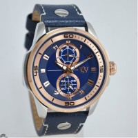 Jam Tangan Christ Verra 23386G BRG Leather Blue Original For Man Garansi Resmi 2 Tahun