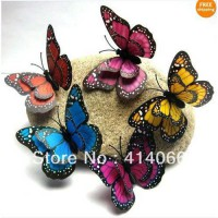 [globalbuy] Hot& wholesale 100Pcs 3D mixed Artificial Butterfly for Wedding Decorations Pa/3175064