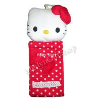 KTS13 - Sarung Tissue Gulung Hello Kitty Merah