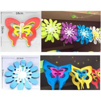 [globalbuy] 3meter Tissue Paper Flowers Party flag banner butterfly Decor Craft For event /3171467