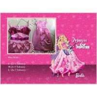 Baju Dress Anak-Gaun Anak Kostum Barbie Popstar