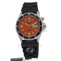Orient FEM65004MW Automatic - Dial Orange - Stainless - Water Resist 200mtr