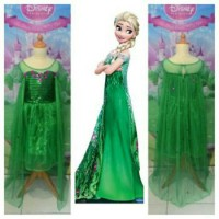 Kostum Dress Elsa Fever Deluxe Hijau