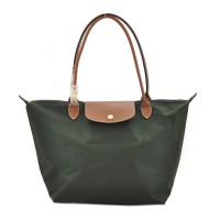 AUTHENTIC LONGCHAMP LE PLIAGE CLASSIC LARGE LONGHANDLE - Deep Green