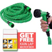 [HOT PROMO] Selang Xhose Panjang 15m Water Spray + [BUNDLE] Mister Clean Kain Lap Microfiber