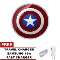SAMSUNG Wireless Charger Galaxy S6/S6 Edge Cordless Charger - MARVEL EDISI AVENGERS FREE CHARGER