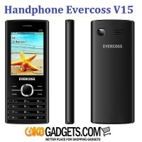 HANDPHONE EVERCOSS V15 CANDYBAR LCD 2.4 INCH CAMERA METAL CASING