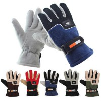 [globalbuy] Men Winter Warm Fleece Thermal Motorcycle Ski Snow Snowboard Gloves Polar flee/3809938