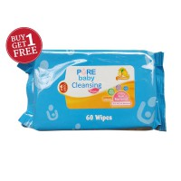 BUY 1 GET 1 - Pure Baby Cleansing Wipes Lemon 60's