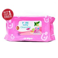 BUY 1 GET 1 - Pure Baby Cleansing Wipes Tea Olive 60's