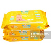 Pure Baby Hand & Mouth Wipes 60's Orange Oil Buy 2 Get 3