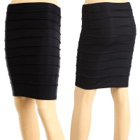 Pinky Black Pencil Skirt