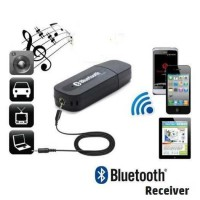 USB Bluetooth Stereo Music Receiver + 3.5mm Audio Jack For Car Speaker