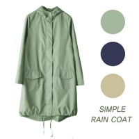 Women Rain Coat Trench Coat Wind Breaker / simple rain coat 1305404