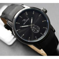 Ripcurl detroit chrono detik leather Silver Black FREE BOX KANCING