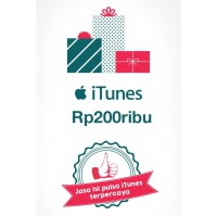 iTunes Gift Card Indonesia - Saldo 200ribu