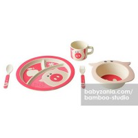 Bamboo Studio Animals Mealtime Set - Pinky the Pig
