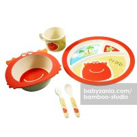 Bamboo Studio Animals Mealtime Set - Shelby the Crab