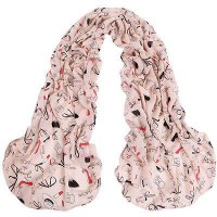 Fashion Scarf motif High Heeled dan lipstick
