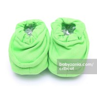 Cribcot Booties Plain - Lime Green