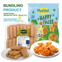 Bundling Fillet Fronte Sosis Breakfast Hotel 1kg & Mydibel Happy Face 750gr