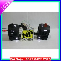 saklar/holder switch saklar pulsar PNP NMAX tanpa potong kabel , bebas request warna LED