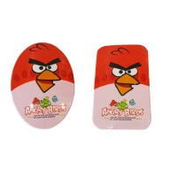 2 pcs Cermin Lipat + Sisir Angry Bird Red Oval & Persegi (11 x 7 cm)
