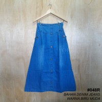Rok Denim Jeans / Warna Biru Muda / Denim jeans