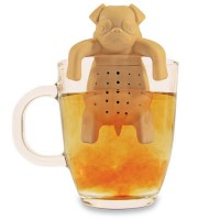 [globalbuy] 1Piece Lovely Tea Strainers Pug In A Mug Silicone Tea Infuser Kawai Portable D/3160071