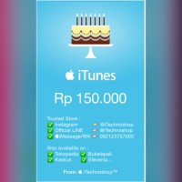 apple iTunes Gift Card (IGC) Indonesia Voucher IDR 150k