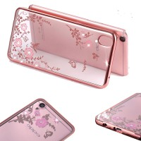 Oppo Neo9 (A37) Cute Case Flower Plating Luxury Diamond
