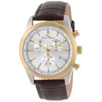 [macyskorea] Lucien Piccard Mens LP-11570-02S-GB Eiger Stainless Steel Watch with Brown Le/1705286