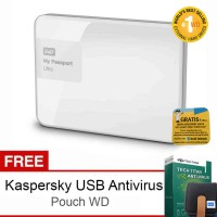 WD My Passport Ultra NEW 4TB Premium Storage USB3.0 - Putih + Gratis Kaspersky USB Anti Virus + Pouch WD + 1 Tahun Data Recovery