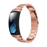 [poledit] Landfox LandFox Stainless Steel Watch Band For Samsung Gear Fit 2 R360,Pink (T1)/14298453