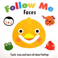 [HelloPandaBooks] Follow Me Faces Board Book - Touch, trace and learn all about feelings