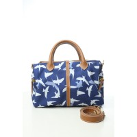 Navy Swallow Bird Satchel