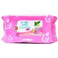 PURE BABY CLEANSING WIPES TEA OLIVE 60pcs BUY 1 GET 1