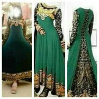 ABAYA INDIA FULL BORDIR / KEBAYA / DRESS / TERUSAN