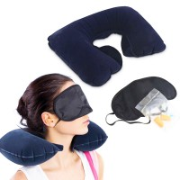 Bantal Leher Angin set Travel pillow Inflatable
