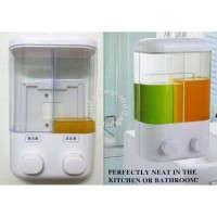 Dispenser Sabun shampoo 2in1 - Dual Soap Dispenser 2in1 untuk shampoo dan sabun - Wall Dispenser